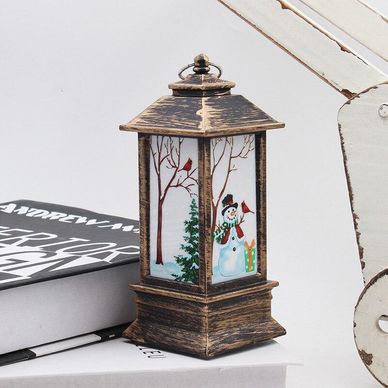 Рождественский светильник s лампа настольная наружного освещения Светодиодный окрашенный светильник подсвечник светильник s винтажный ночной Светильник Санта Снеговик Олень торшер Иисус - Испускаемый цвет: snowman