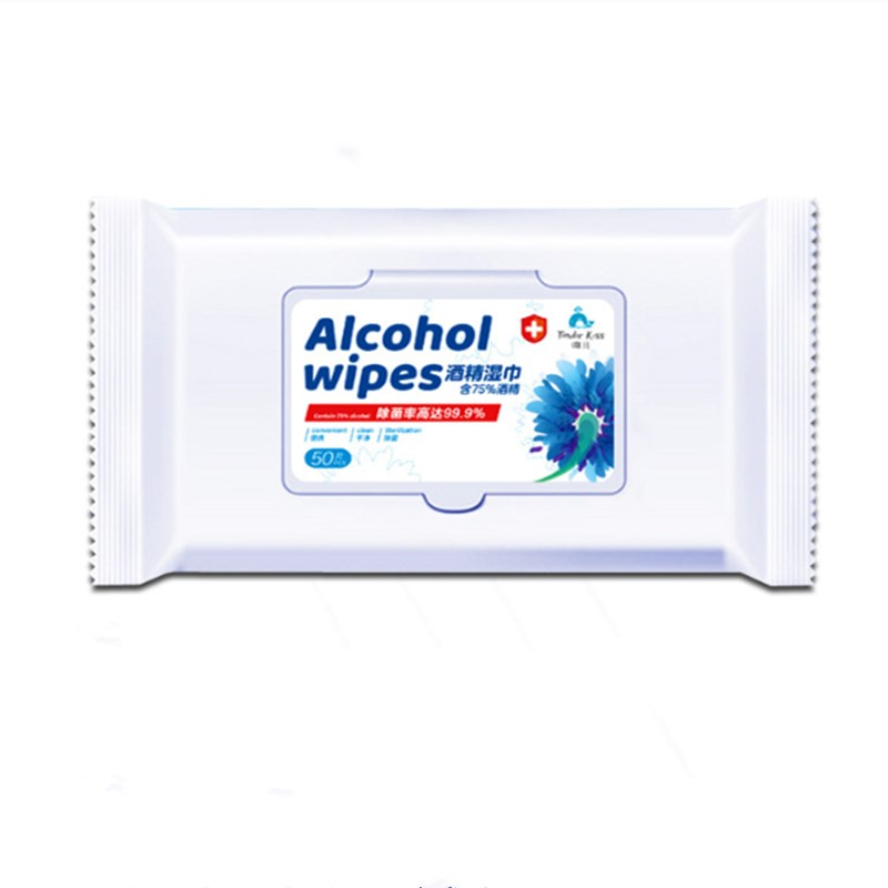 Professional Portable Alcohol Wet Wipe Disposable Disinfection Swap Pad Antiseptic Skin Cleaning Care Sterilization Tissue Box