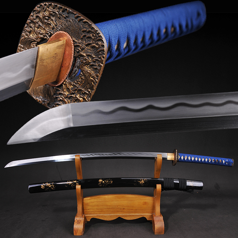 Full Tang Japanese Katana Real Sword <font><b>1095</b></font> carbon <font><b>steel</b></font> heat tempered sharpness supply new arrival swords weapons image