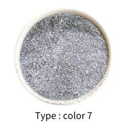 50g brokat w proszku powłoka jasny srebrny malowany proszkowo do farb do paznokci dekoracji samochodowy Art Craft miki w proszku na