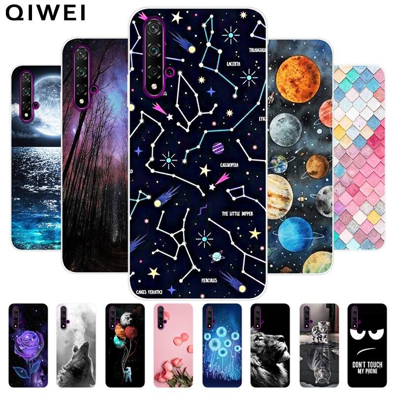 For Huawei Nova 5T Case Cover 6.26'' Cute Cartoon Soft TPU Silicone Cases For Huawei Nova 5T Phone Back Cover Coque Funda Nova5t