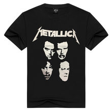 Hot Jual METALLICA Metal Band Kreatif Dicetak Rock And Roll Pria T-shirt Lengan Pendek(China)