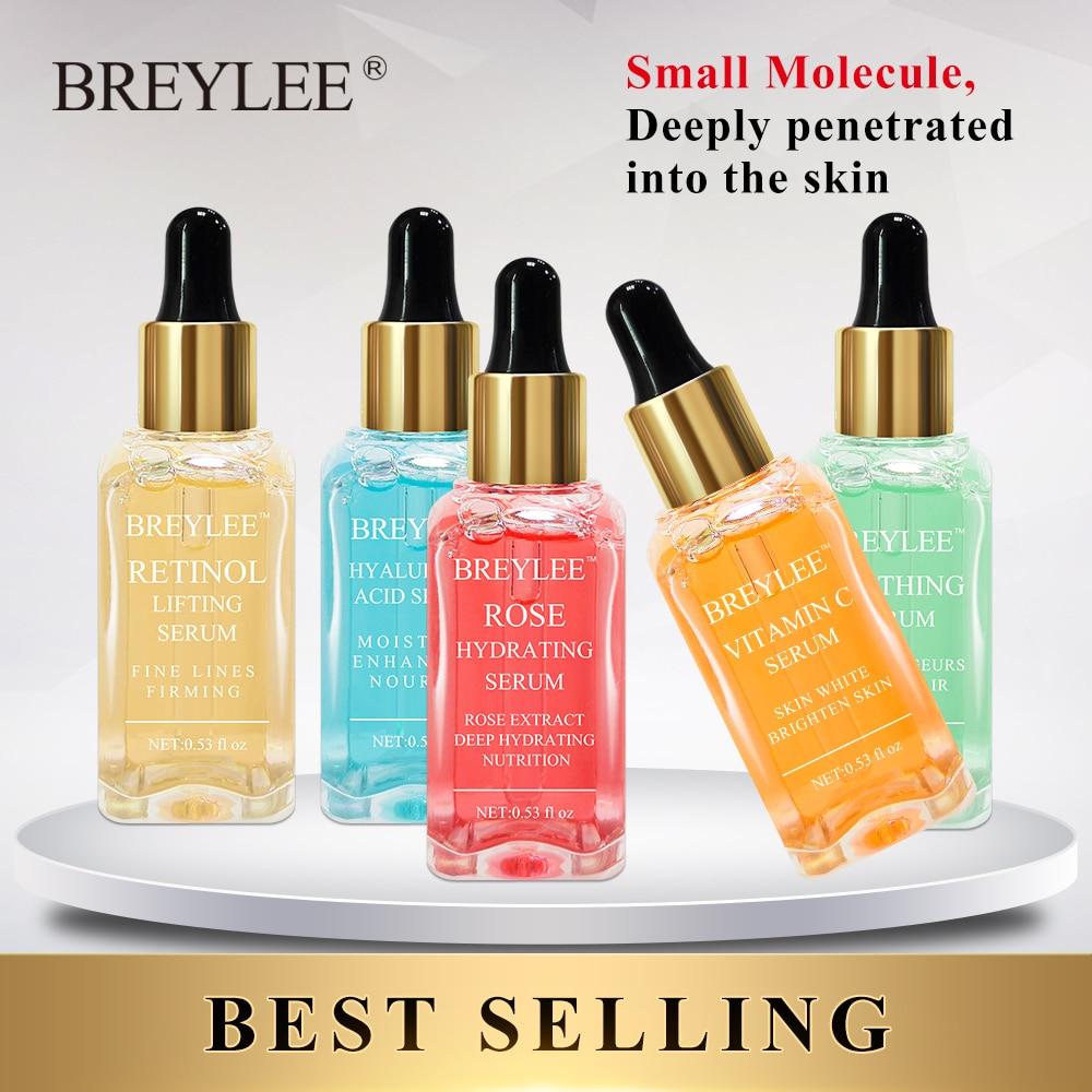BREYLEE Serum Series Hyaluronic Acid Rose Nourishing Vitamin C Whitening Retinol Firming 24k Gold Soothing Repair Face Care 1pcs