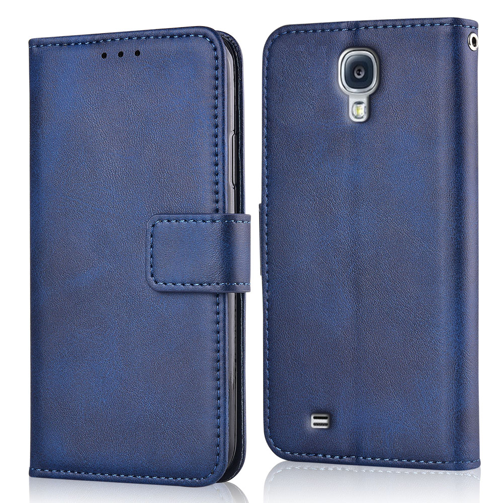 Için Samsung Galaxy S4 I9500 I9505 I9515 VE GT-i9500 kapak Galaxy S4 S 4 I9500 kapak cüzdan Samsung kılıfı S4 kılıf