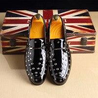 Patent Leather Men Formal Shoes Classic Coiffeur Italian Loafers Men Party Shoes Wedding Dress Erkek Ayakkabi Bona 3#14MD50