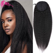 "Beauty Forever Kinky Straight Hair Ponytail Brazilian 100% Remy Human Hair Ponytail 10-24""Drawstring Ponytail(China)"