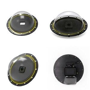 Image 5 - ללכת פרו כיפת יציאת עבור GoPro גיבור 7 6 5 מתחת למים עמיד למים דיור מקרה תיבת טריגר גריפ כיפת כיסוי כדור אבזרים
