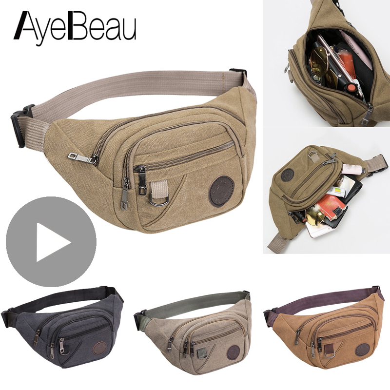 Kidney Belly Banana Bum Hip Chest Money Belt For Men Women Waist Bag Male Female Fenny Fanny Pack Pouch Murse Purse Row Ledvinka