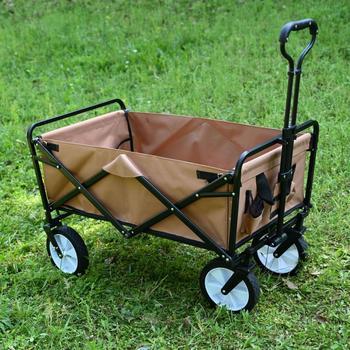 Koło ogrodowe barrow Utility Wagon koszyk łożysko 550lbs wózek ogrodowy carretilla Heavy Duty składany wózek kempingowy na plażę tanie i dobre opinie max 80kg 20050806450387612 496846 Oxford portable foldable Shopping Bag casual 8000 gram 710x450x940mm wheelbarrow garden trolley
