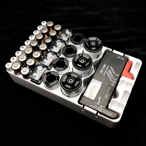 Image 1 - 1pc 9V C D AAA AA Battery Holder For 34pcs Battery Storage Organizer with Tester Case Battery Box aaa aa Rangement Pile#25