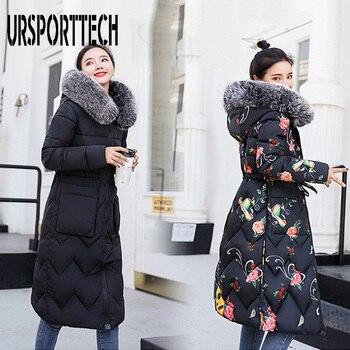 цена на 2020 New Brand Women Long Down Parka Reversible Jacket Women Winter Down Jacket Women 2019 Hooded Oversize Coat Plus Size 3XL