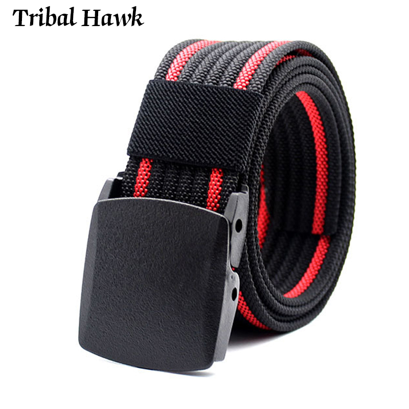 Men's Nylon Belt Tactical Military Army Special Police Belt Combat Male Plastic Buckle Casual Jeans Belt To Prevent Allergies