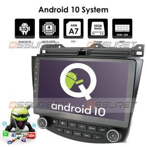 Image 3 - راديو ستيريو للسيارة مزود بجي بي إس وشاشة 10.1 بوصة يعمل بنظام الأندرويد 10.0 وواي فاي 4G لسيارة هوندا أكورد 2003 2007 + كاميرا عالية الدقة ومرآة موصل DTV SWC DVR مزود بتقنية البلوتوث USB OBD2