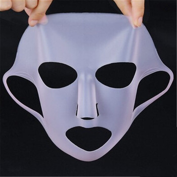 1PC Reusable Silicone Face Skin Care Mask Cover for Sheet Mask Prevent Evaporation Steam Reuse Waterproof Pink/White Beauty Tool image