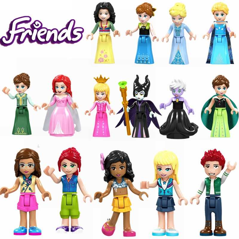 Legoing Friends Toy Hobbies Anna Olivia Kate Cinderella Aurora Ursula Princess Blocks Legoings Girl Children's Educational  Toys