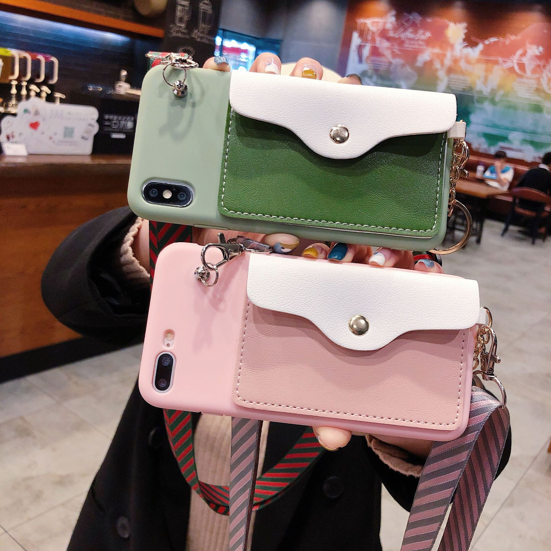 Candy Soft Silicone Case Cover For Samsung Galaxy S10 S10E S9 S8 Plus Note 10 9 8 S7 S7 Edge Card Holder Wallet Strap Lanyard