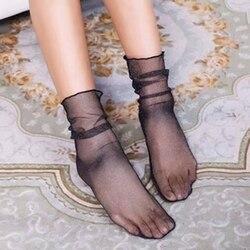 Удобные сексуальные эластичные Чулочные изделия, новые весенне-летние нейлоновые носки, женские тонкие прозрачные сетчатые кружевные носк...