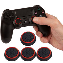 4 Pcs Silicone Analog Thumb Stick Grips Cover For Playstation 4 PS4 Pro Slim For PS3 Controller Thumbstick Caps For Xbox 360 One(China)
