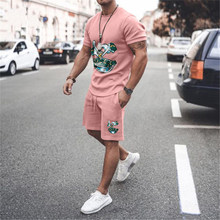 Summer Short Sleeve Tees And Shorts Outfit 2021 Streetwear Mens Clothes Vintage Cross Printing Tracksuits Casual Men 2 Piece Set