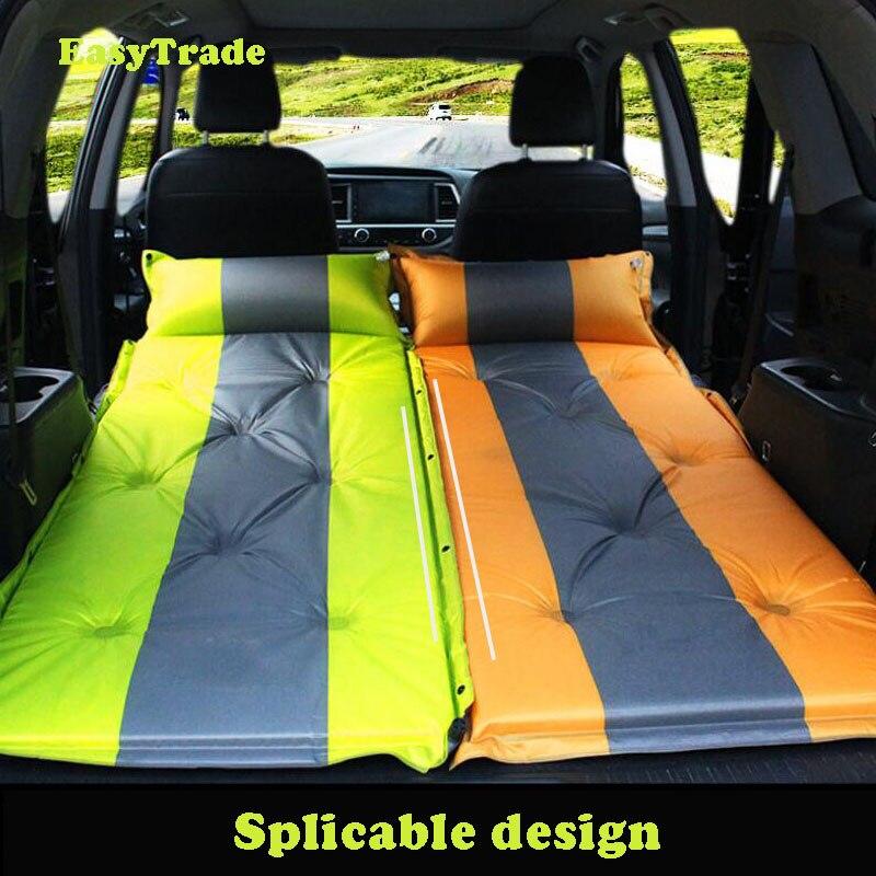 Gris avec pompe de gonflage 174 x 126 cm Cikonielf Matelas gonflable en PVC pour si/èges arri/ère de voiture lit 1 place gonflable pour camping