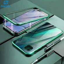Hacrin funda de Metal templado para Huawei P40 Lite, adsorción magnética, para Huawei P40 P 40 Lite