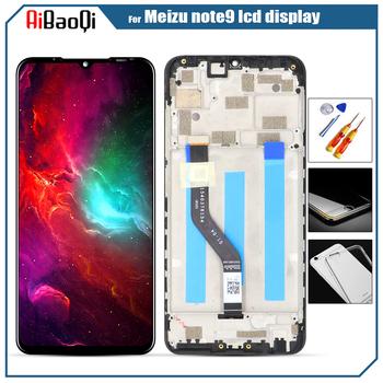 Oryginał dla Meizu note 9 ekran dotykowy Digitizer + dla Meizu note 9 wyświetlacz LCD 6 2 #8222 telefon czarny kolor IPS 2244*1080 tanie i dobre opinie AiBaoQi Pojemnościowy ekran 3 LCD i ekran dotykowy Digitizer 6 2 inch Tested before Sending Black 2244x1080