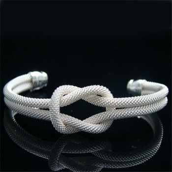 925 Sterling Silver Bangle Bracelet  Knotted Web Bangle /Agmaixta Ajoajava