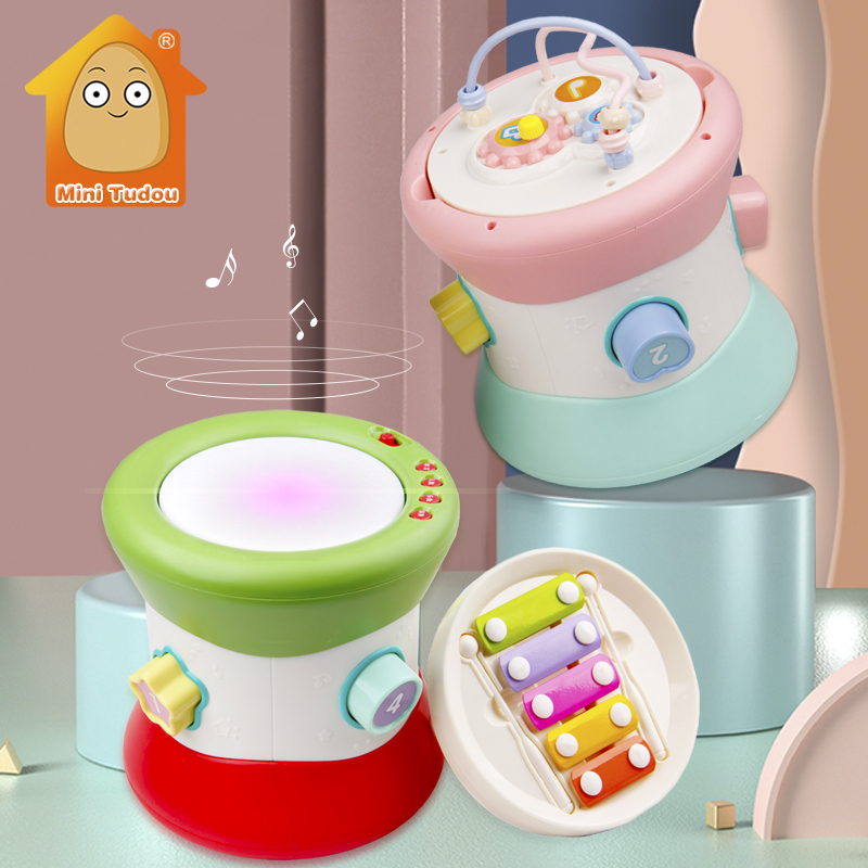 Kids Baby Hand Drums Xylophone Children Pat Drum Musical Instruments Baby Toys 6-12 Months Toddler Girl Music Toys For Baby(China)