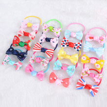 20PCS Mix Color Mini Bow Barrettes Sweet Girls Solid Dot Stripe Hair Clips Kids Hairpins Ring Accessories for Hot
