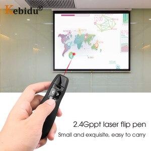 Image 5 - ハンドヘルド R400 2.4Ghz のワイヤレスプレゼンターポインターペン USB PPT 赤色レーザーリモコンプレゼンテーションのためのオフィス