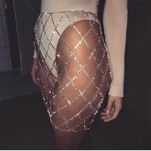 Gold Silver Crystal Diamonds ClubWear Sexy Short Dress Women Summer Beach Cover Bikini Mini Skirt Glitter Rhinestone Mesh Skirts