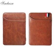 New Fashion Slim Men's Leather Magic Wallet Korea Designer C