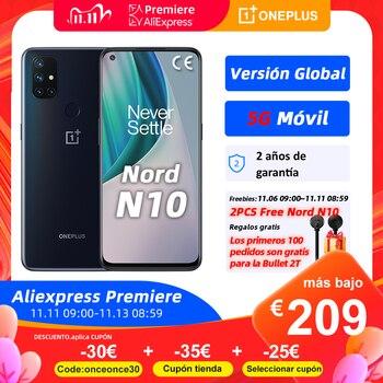 World Premiere OnePlus Nord N10, Versión global, 6GB 128GB móvil 5G, 6.49'' 90Hz Pantalla, 64MP Quad Camera, Warp Charge 30T NFC, €30 Code: onceonce30+€35 Cupón tienda+€25 Seleccionar cupón on 11.11 09:00
