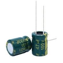 20 piezas de alta frecuencia de baja resistencia condensador electrolítico de aluminio 100V47UF 47uf100v volumen: 8x12 10x13