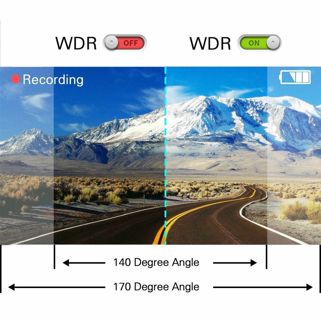 كامل HD 1080P جهاز تسجيل فيديو رقمي للسيارات سيارة كاميرا مسجل فيديو داش كام للرؤية الليلية 1.7 بوصة مايكرو مسجل قيادة السيارة واي فاي داش كام
