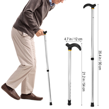 Cane Stick-Tool Trusty-Sticks Elder Walking Aluminum-Alloy for The 2-Section Anti-Skid