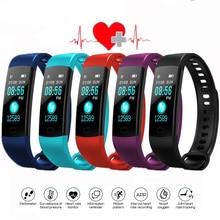 Bluetooth Smart Bracelet Color Screen Y5 C Smartband Heart Rate Monitor Blood Pressure Measurement Fitness Tracker Smart
