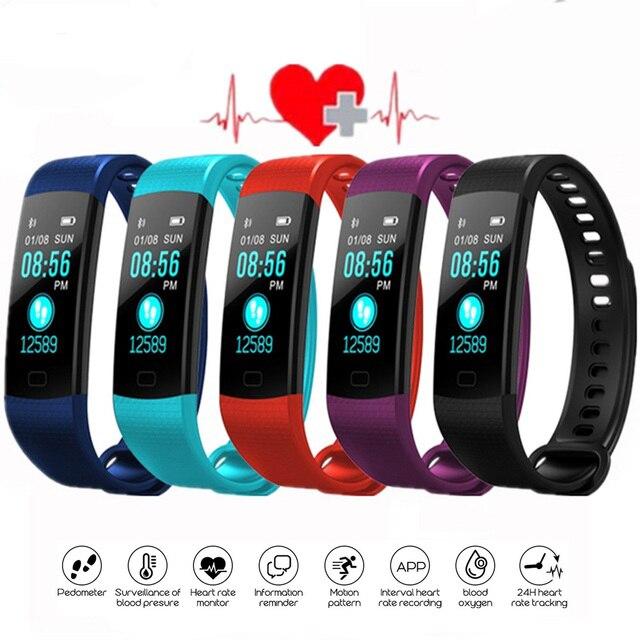 Bluetooth חכם צמיד צבע מסך Y5 C Smartband קצב לב צג לחץ דם מדידה כושר גשש חכם