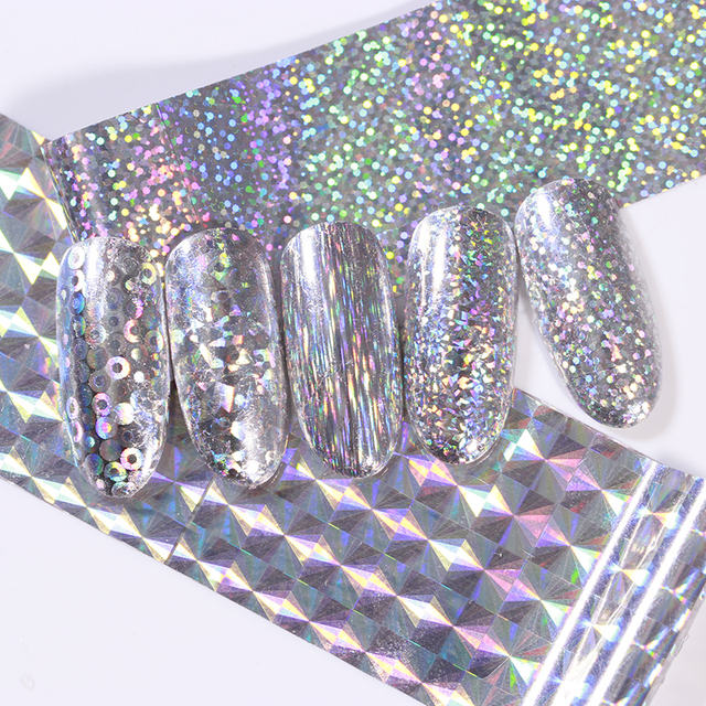 1 Roll Holographic Nail Foils Sticker