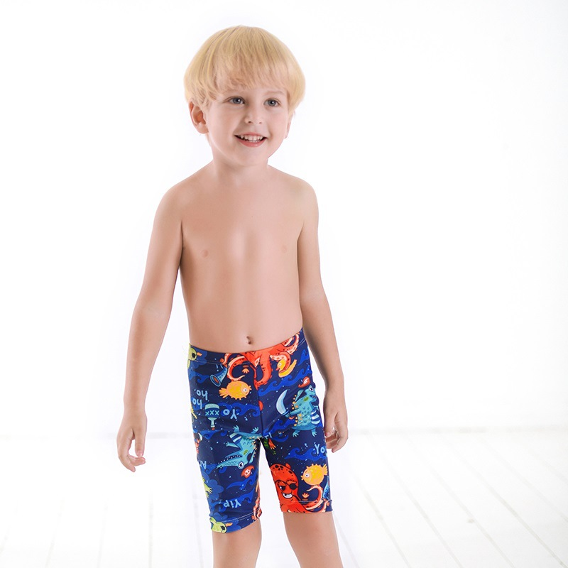 New Style South Korea CHILDREN'S Swimming Trunks Infants Male Baby Cartoon Octopus Medium-small BOY'S Young STUDENT'S Swimming T