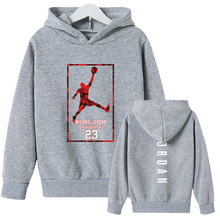 2021 New Children's Hoodie No. 23 Sportswear Pullover Hoodie Long-sleeved Children's Thickened and Velvet Casual Sportswear