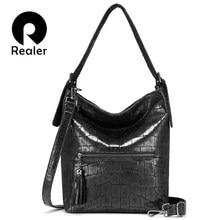 Realer handbags women fashion shoulder bags high quality for Ladies Hobos big capacity Tote bags female luxury women bag 2019