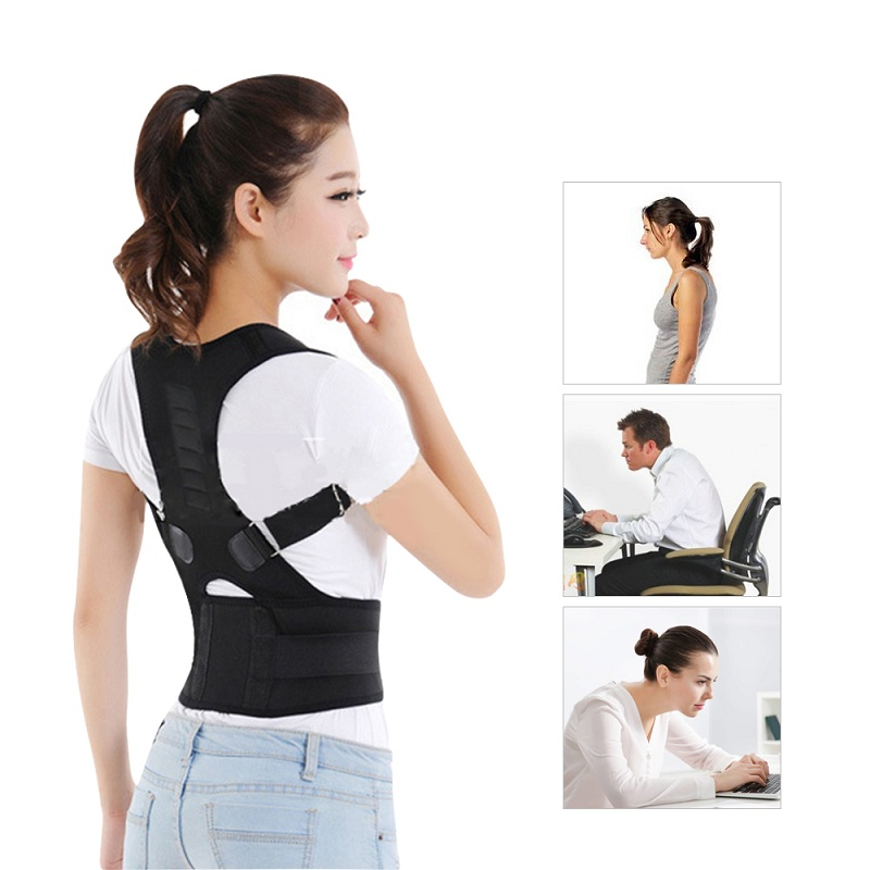 Male Female Adjustable Magnetic Posture Corrector Corset Back Brace Back Belt Lumbar Support Straight Corrector de espalda M/L