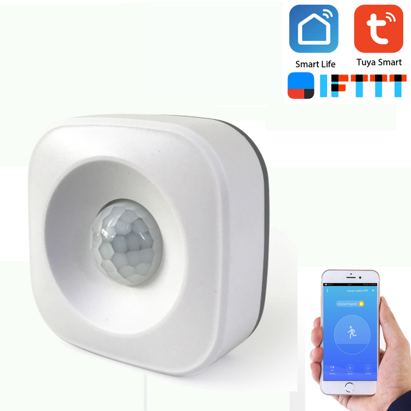 Wifi PIR Motion Sensor Alarm Detector APP Smart Life/Tyua Smart Home Automation Work With IFTTT Support Android/IOS