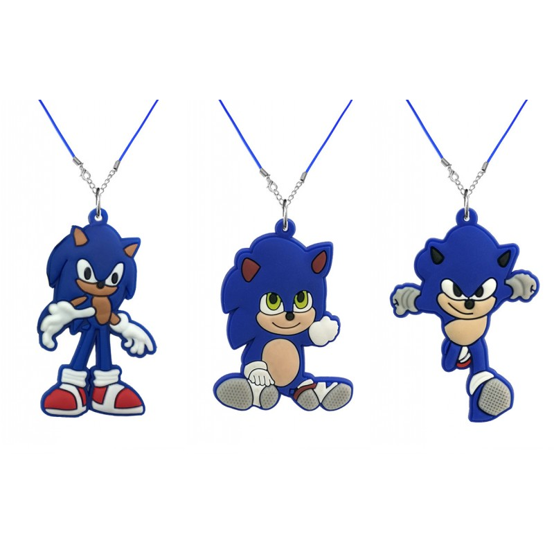 1 шт. милые Мультяшные ожерелья из ПВХ Подвески синее ожерелье веревочная цепочка детский аксессуар модные подвески ювелирные изделия