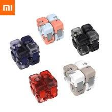 Xiaomi mitu spinner 다채로운 빌딩 블록 손가락 fidget 감압 장난감 퍼즐 조립 큐브 손가락 회 전자 장난감