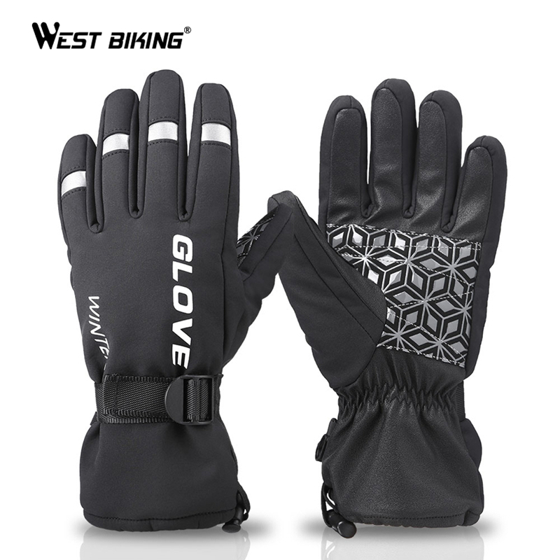 Winter Gloves Full Finger Warm Touch Screen Cycling Bike Thermal Warm Windproof