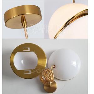 Image 5 - Nordic modern White ball bubble led pendant lights kitchen living room restaurant bedroom gold ring hanging lamp