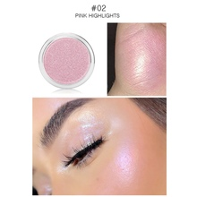 Face Highlighter Powder Waterproof Shimmer Eye Shadow Powder Cheek Bronzers Shine Blush Make Up Beauty rorec bronzers