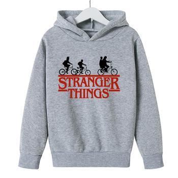 Dropship 2021 gorący chłopak bluzy z kapturem Stranger Things 3 bluza serial telewizyjny Stranger Things druku zima ciepłe bluzki ubrania Anime tanie i dobre opinie CN (pochodzenie) Na co dzień COTTON Dobrze pasuje do rozmiaru wybierz swój normalny rozmiar W stylu rysunkowym REGULAR